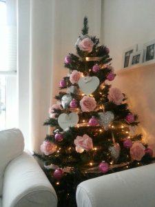 roze kerstboom debbie dols