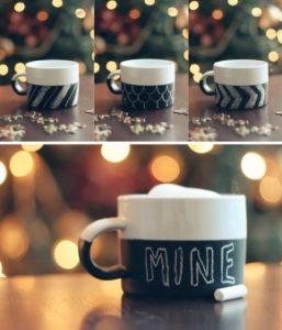 koffiekopjes krijtverf