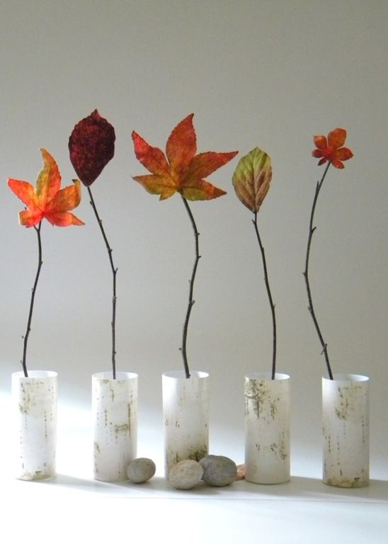Herfstdecoratie versieren met spulletjes uit het bos - Huis om te versieren ...