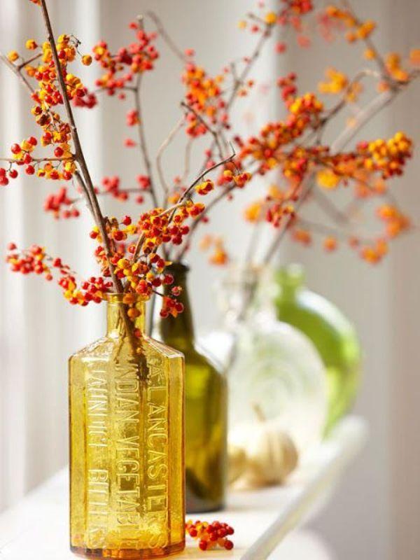 Herfstdecoratie versieren met spulletjes uit het bos for Autumn decorating tips