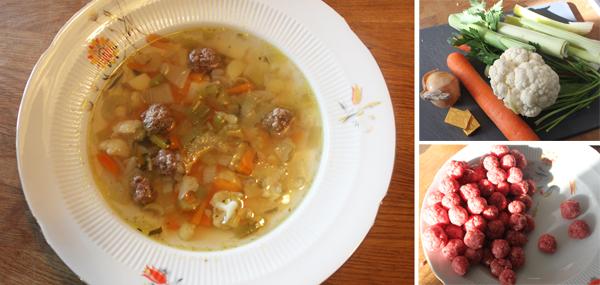 groentesoep met ballen recept