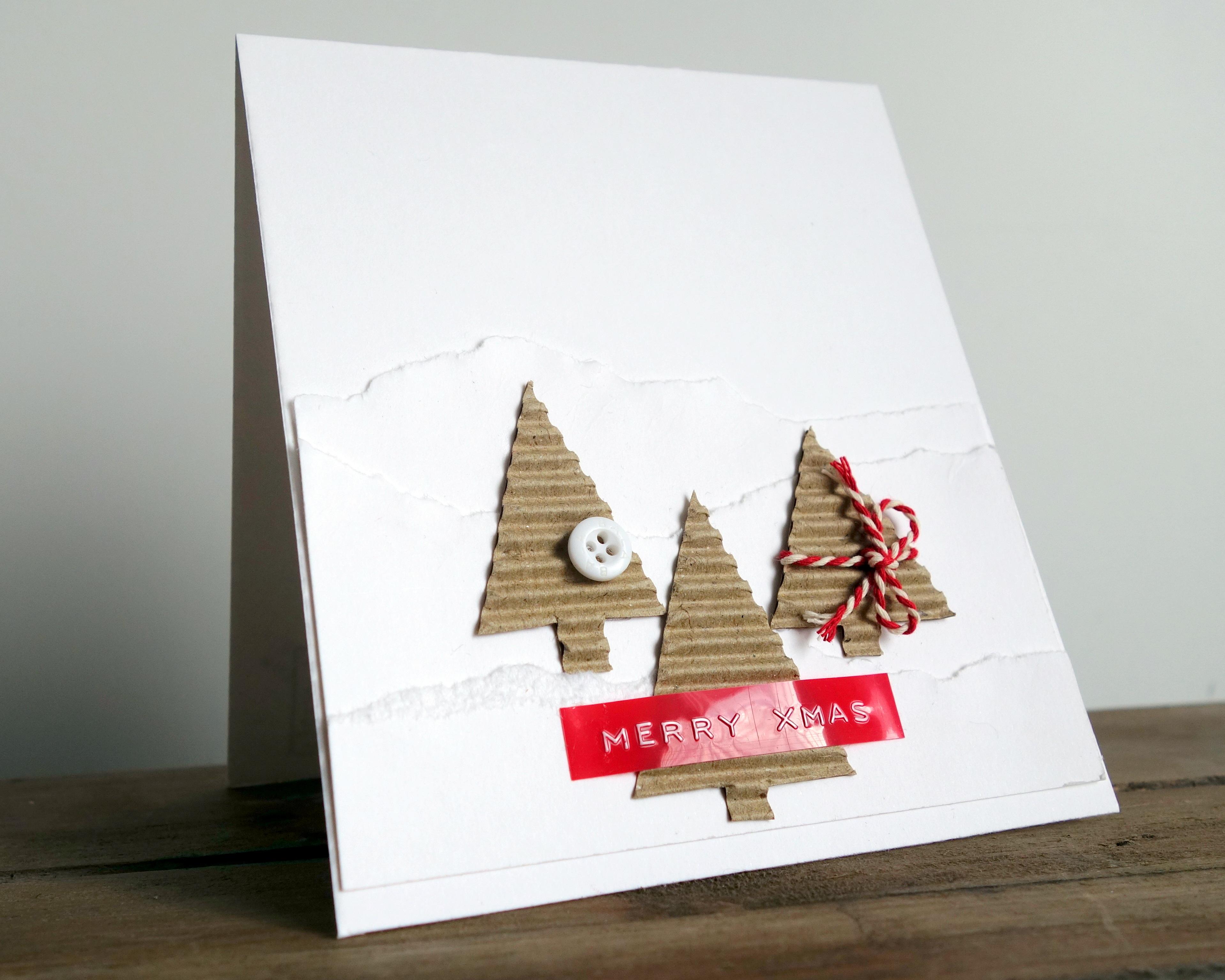Super 5x snel & simpel creatieve kerstkaarten maken #KT54