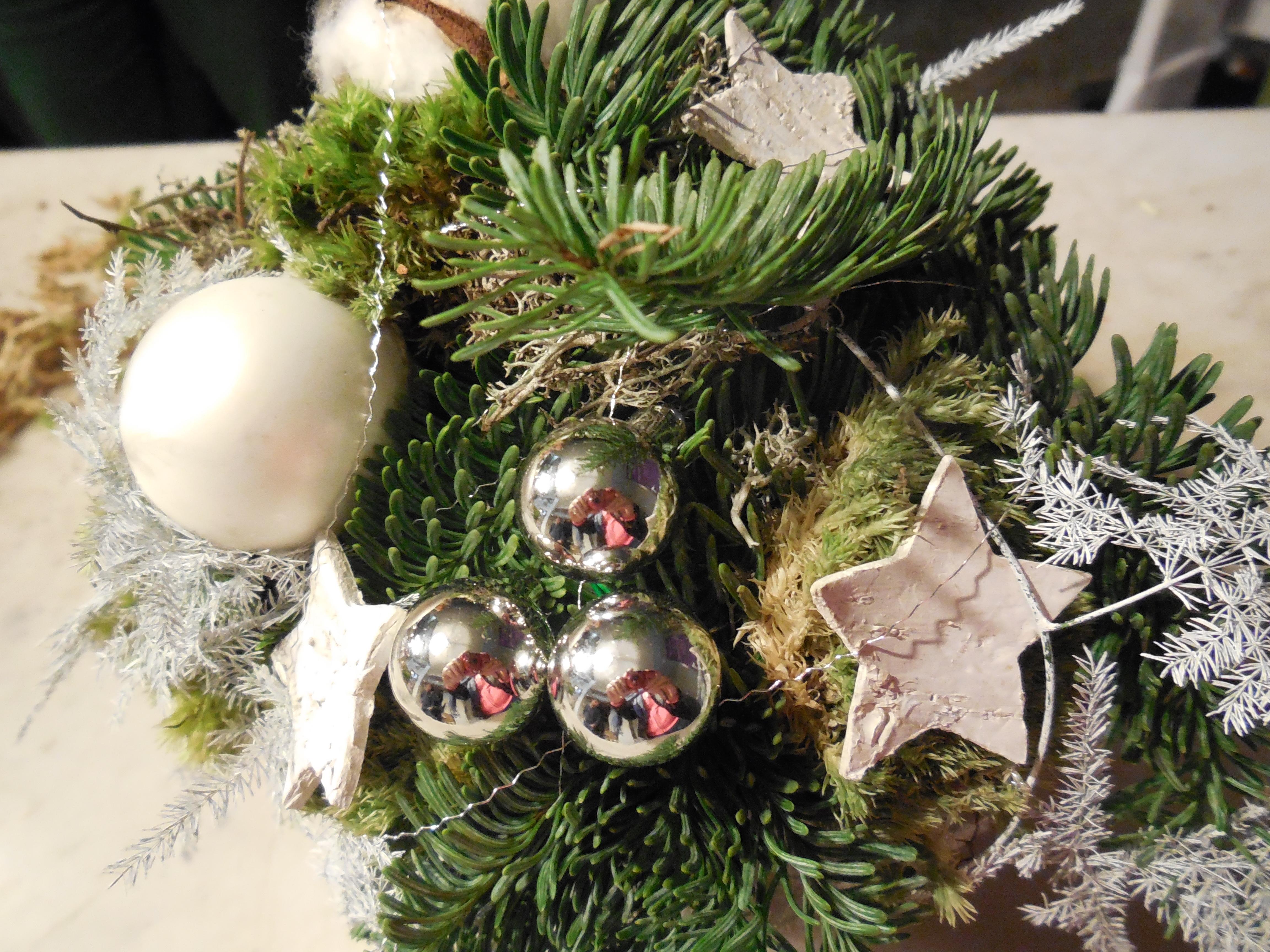 Snel kerststukje maken