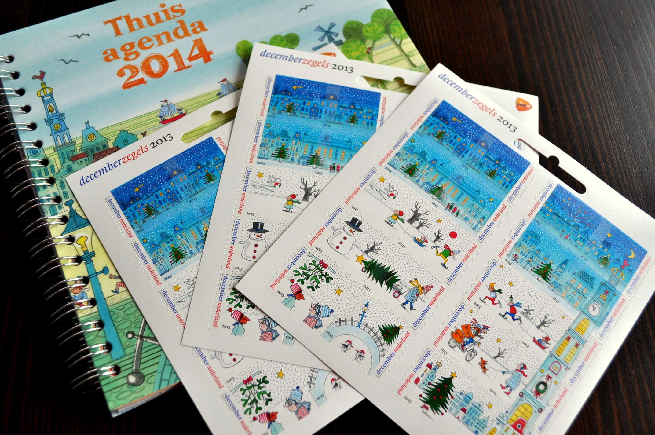Decemberzegels 2013 - Thuisagenda 2014 PostNL