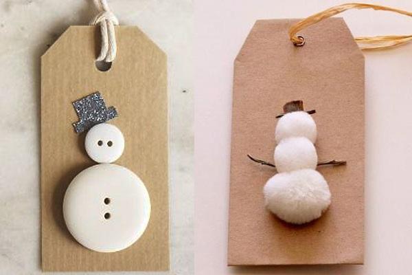 labels sneeuwman