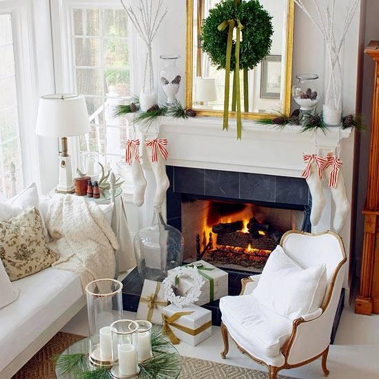 Huiskamer versieren met kerst: de mooiste traditionele kersthuiskamers