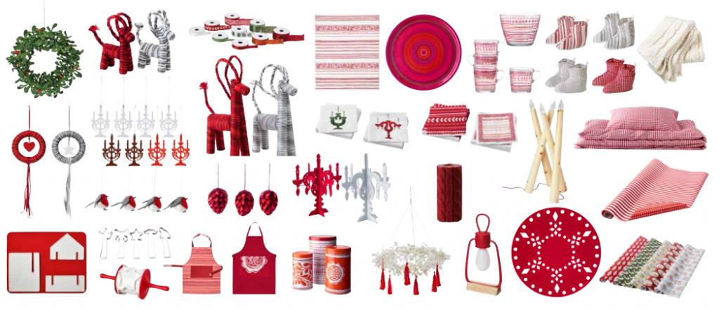 collectie rood en wit