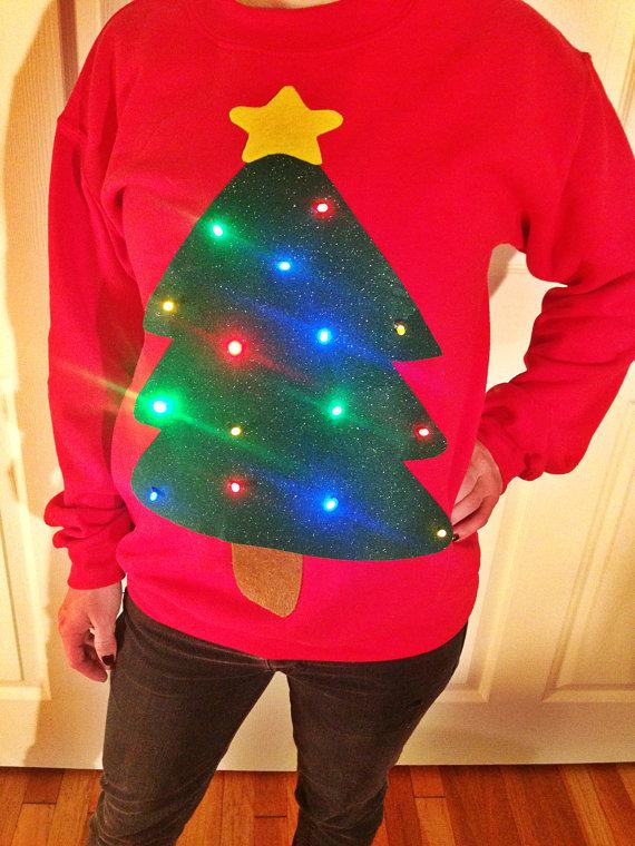 Kersttrui Heren Met Lampjes.Ugly Christmas Sweater Trek Een Foute Kersttrui Aan Dit Jaar