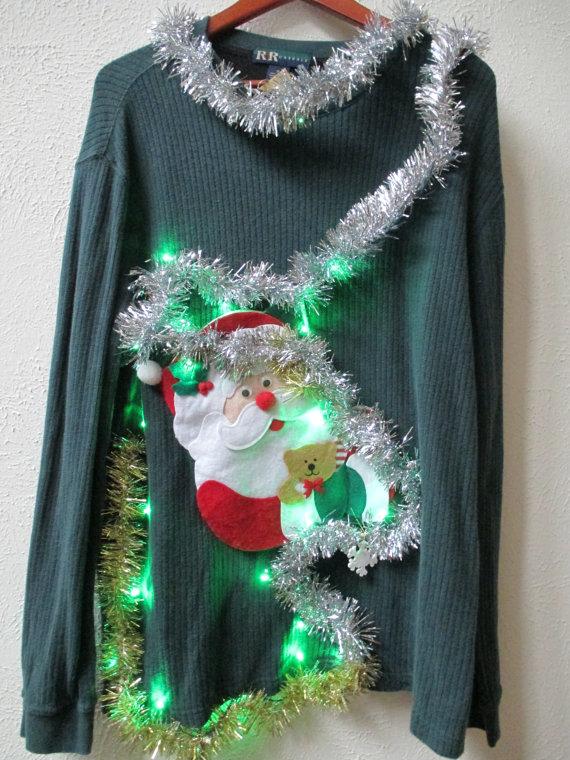 Kersttrui Lichtjes.Ugly Christmas Sweater Trek Een Foute Kersttrui Aan Dit Jaar