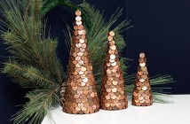 koper kerstboompjes