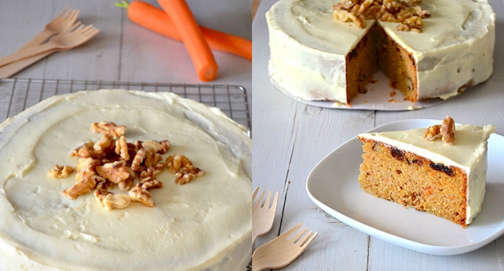 collage carrot cake