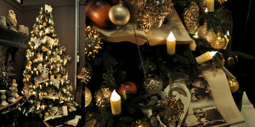 collage kerstboom boekenboom