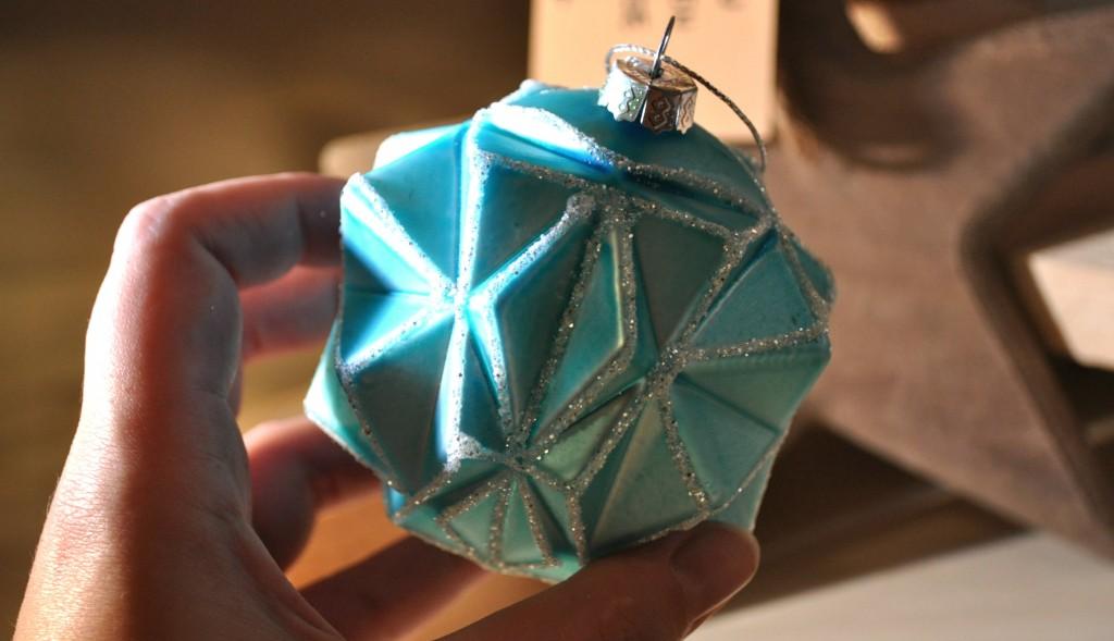 blauwe kerstbal intratuin
