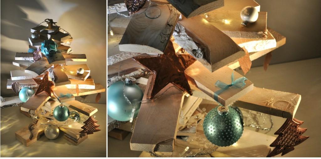 collage houten kerstboompje intratuin