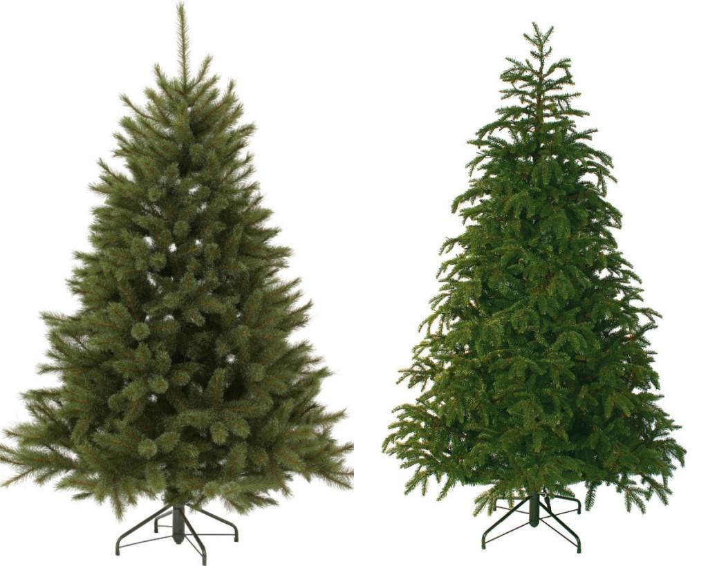 collage kerstbomen naalden