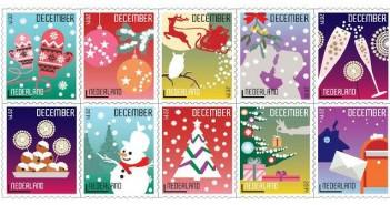 kerstzegels postzegels 2014