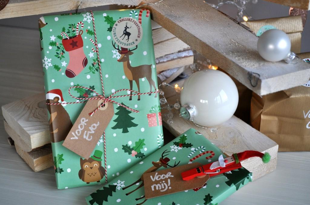 oktoberdots cadeaupapier kerst 2014