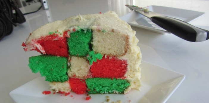 plak taart kerst