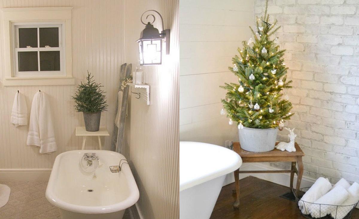 Kerstsfeer op je toilet badkamer schutboom for Decoratie wc