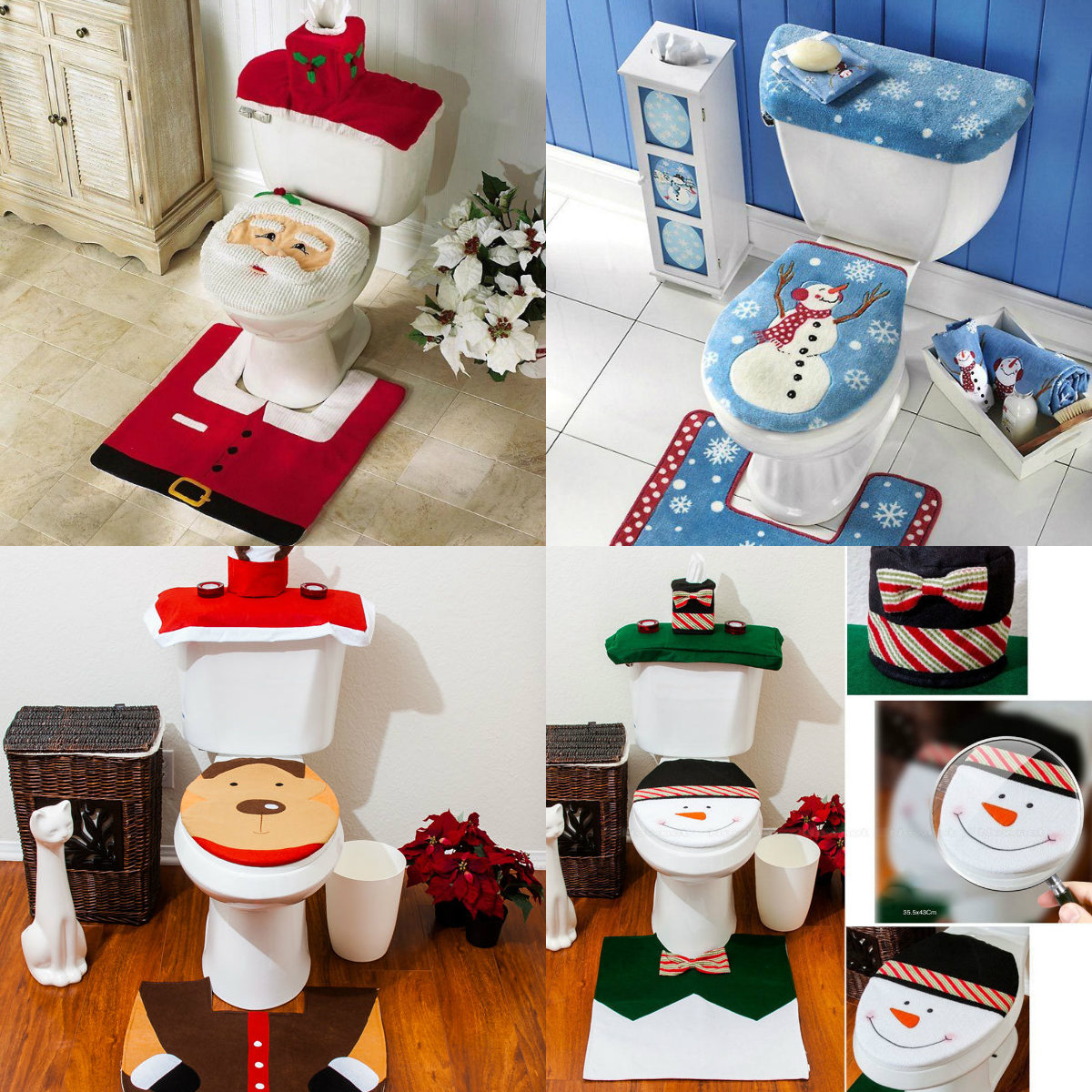10x kerstsfeer op je toilet badkamer for Decoratie wc