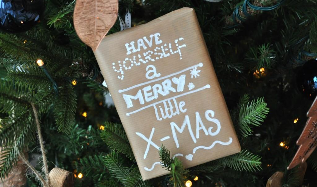 kerstcadeautje krijtstift quote