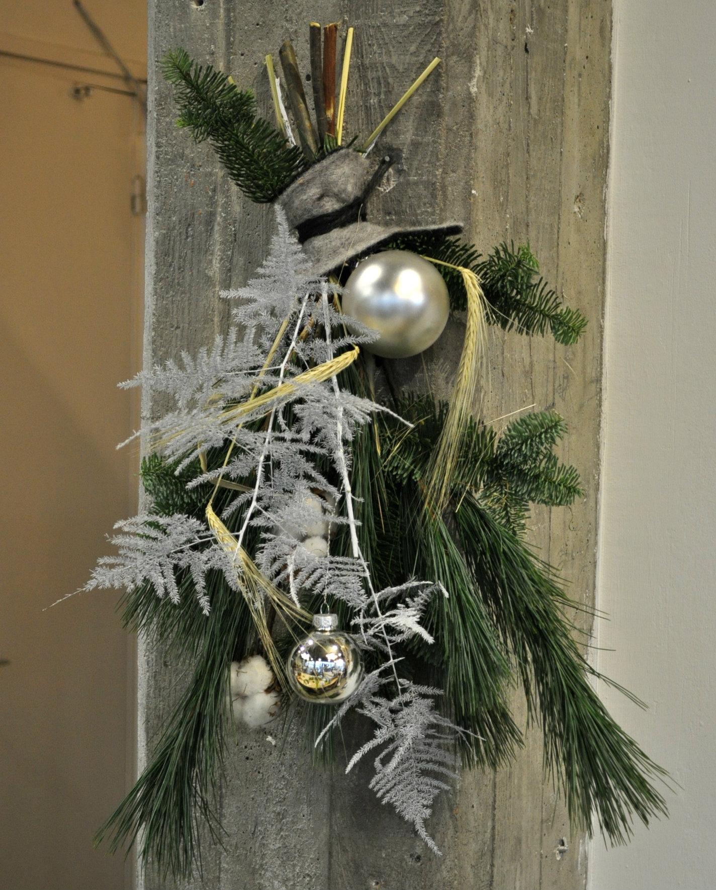 Supersnel kerststukje maken voor aan de muur for Huisjes voor aan de muur