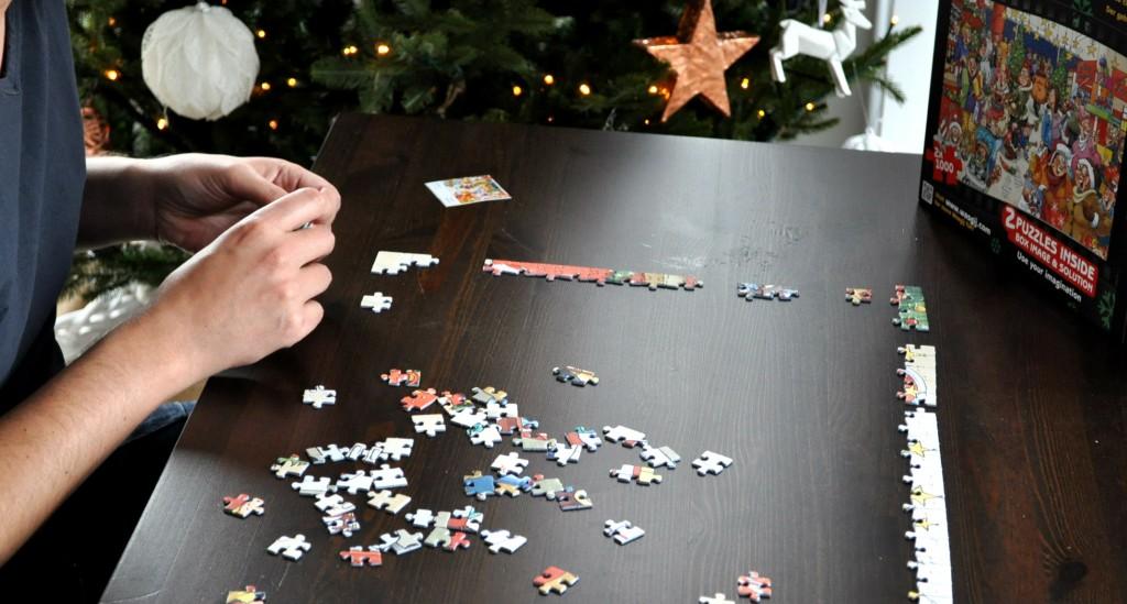 puzzelen met kerst