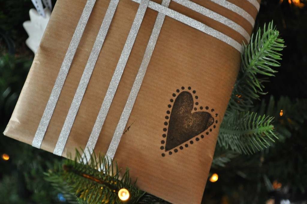 stempel kerstcadeau