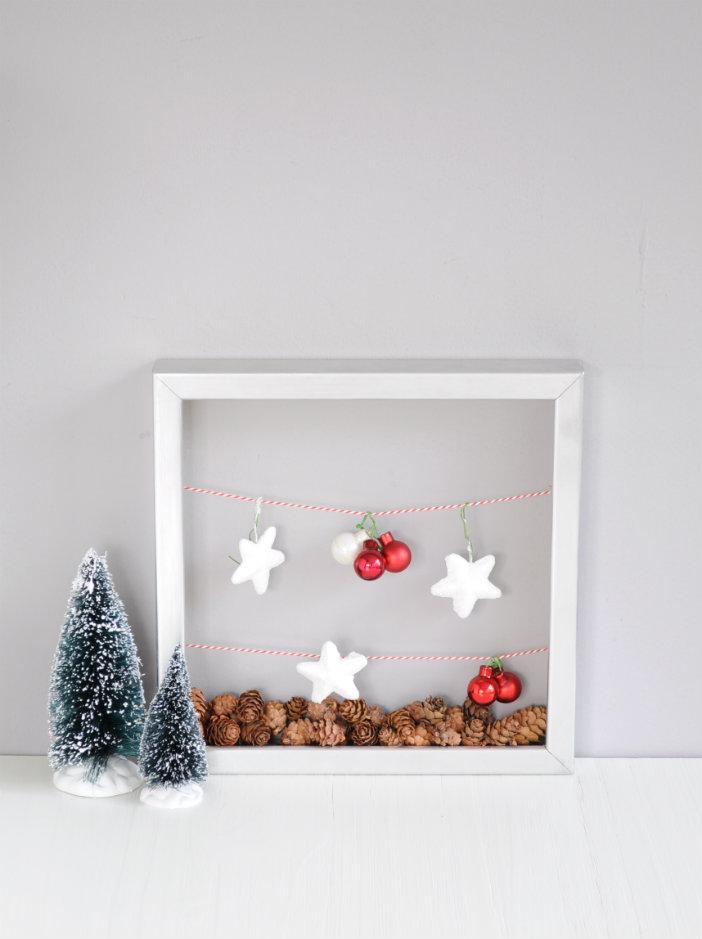 fotolijstje met kerstlandschap - photo frame christmas