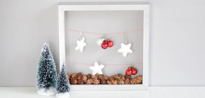 Fotolijstje Met Waslijntjes Voor Kerst Diy