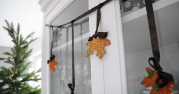 DIY glitter herfst bladeren knutselen herfstvakantie