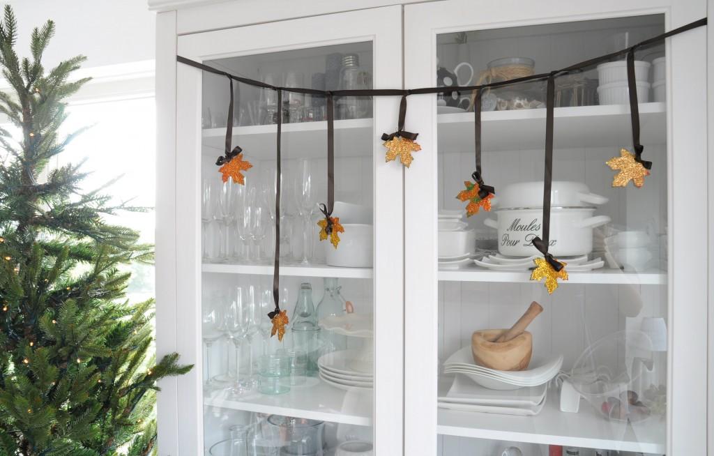 herfstbladeren DIY zelf maken slinger