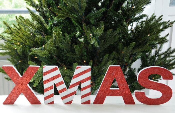 kerst letters knutselen verven glitter DIY creatief