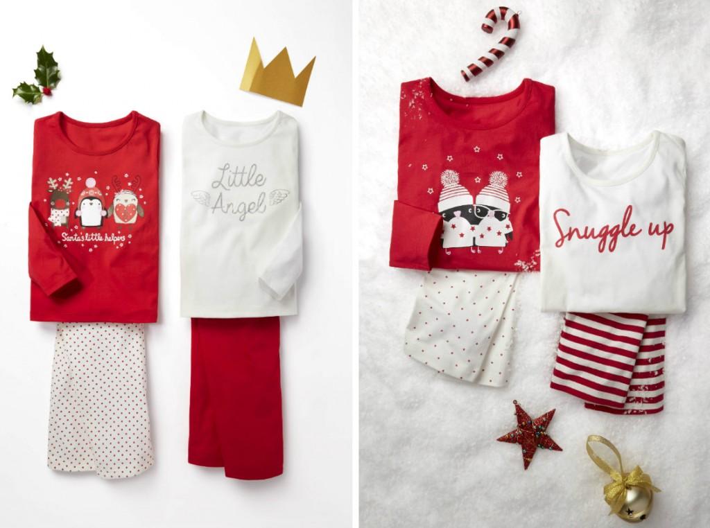 collage kinder pyjama's kerst