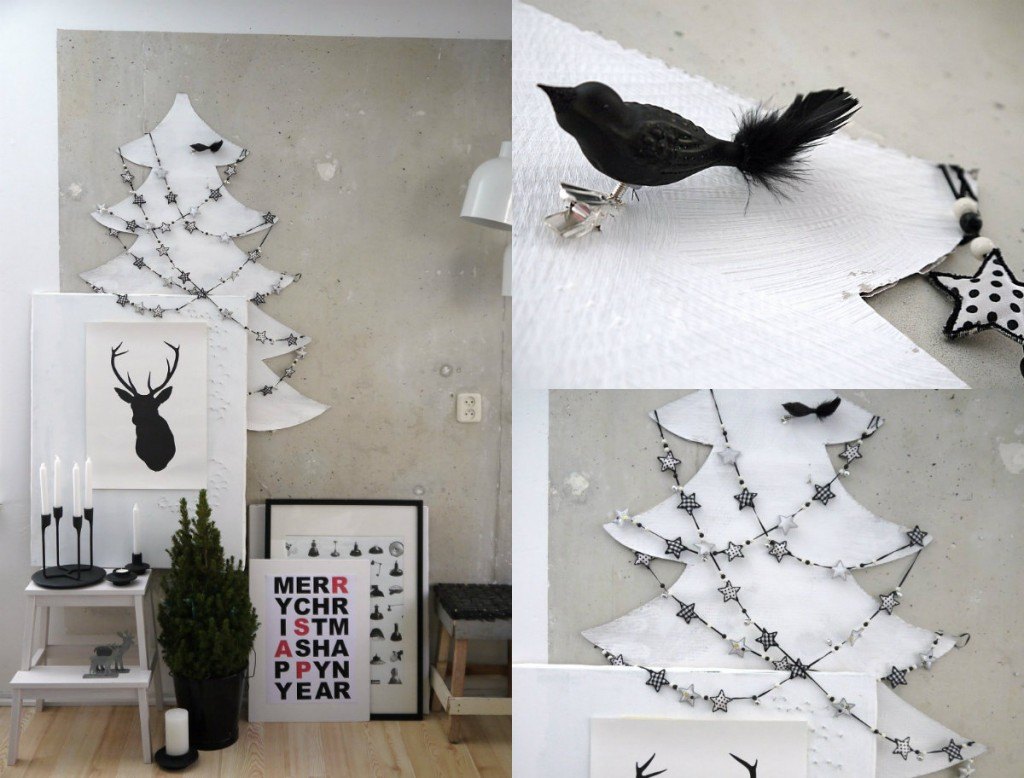 collage vosgesparis zwart wit kerst