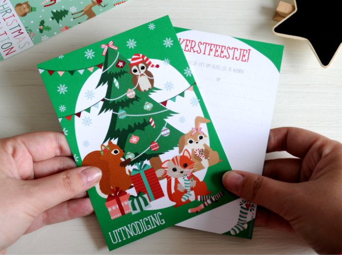 kerstfeestje uitnodiging