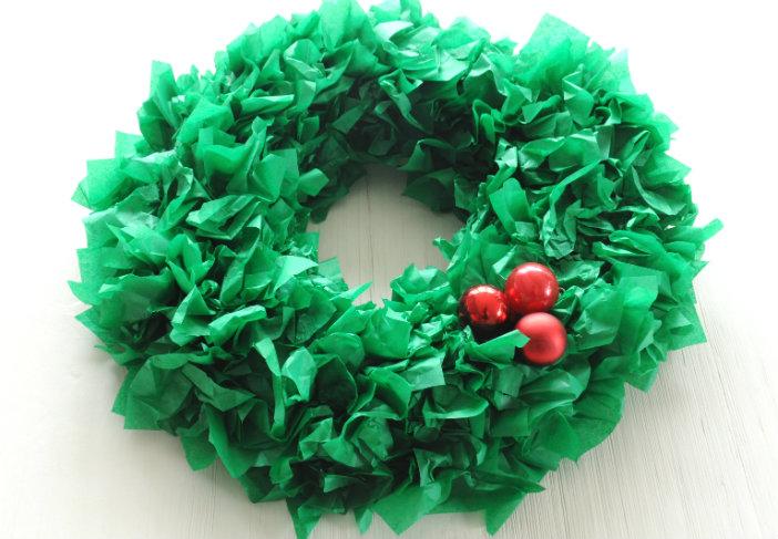 kerstkrans hulst maken diy