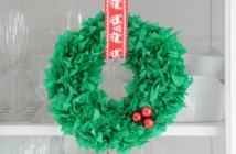 kerstkrans maken knutselen kinderen kerst