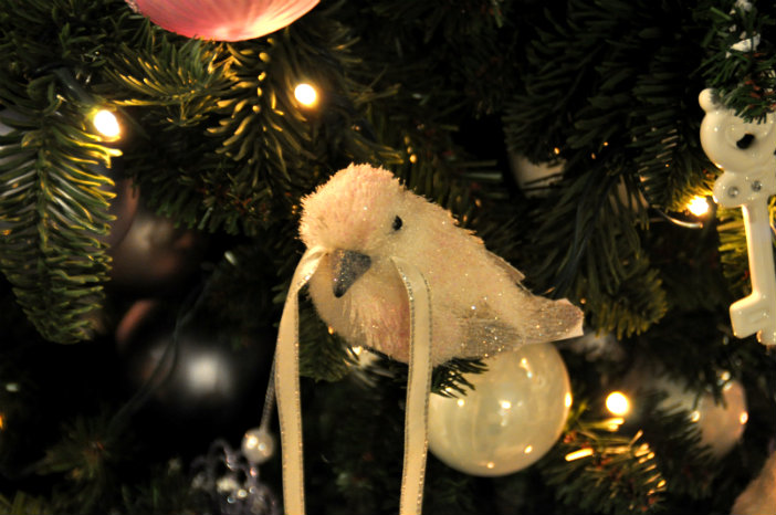 vogels in de kerstboom