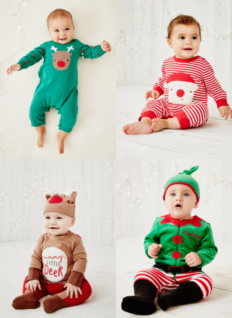 collage baby kerst pakje baby's first christmas