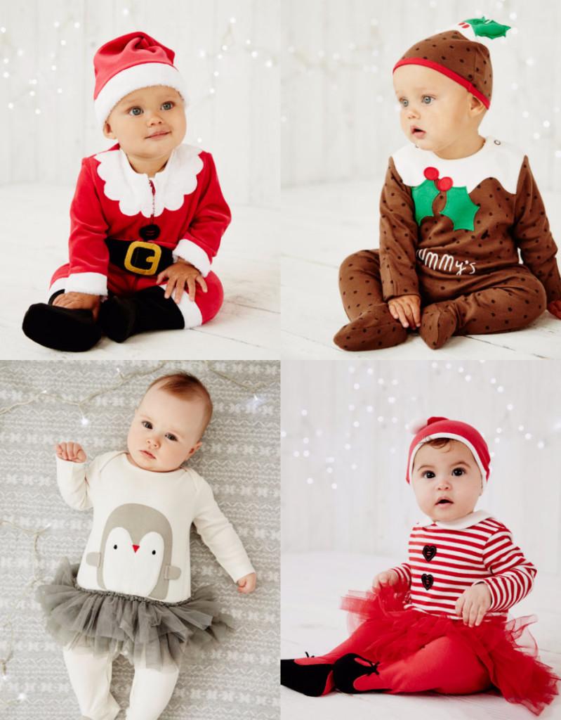 collage baby kerstpakjes mothercare baby's eerste kerst