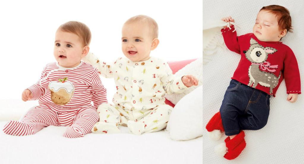 collage baby pyjama kerst