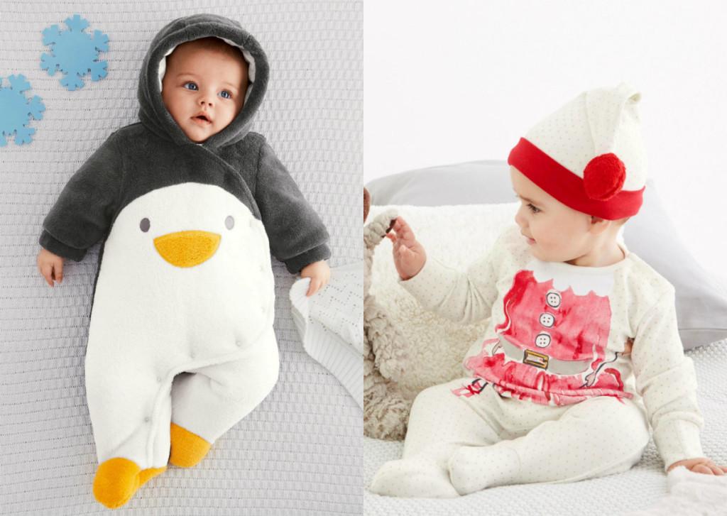 collage baby's first christmas kerstpakjes voor pasgeborene