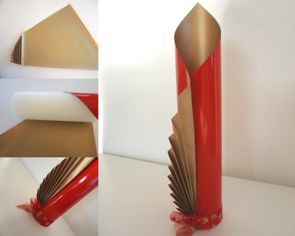 collage cilinder rond inpakken kerst