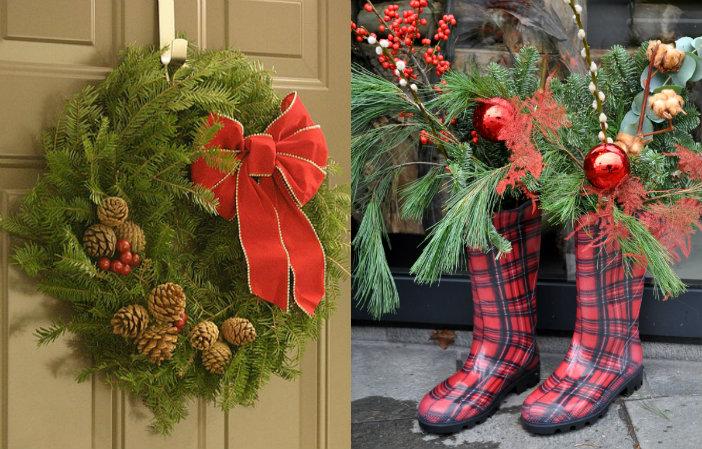 Kerstversiering in je tuin of op je balkon 8 idee n - Versier een entree ...