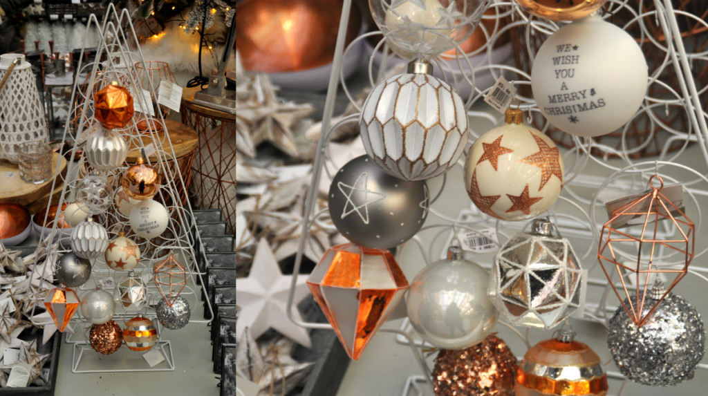 collage metalen kerstboom
