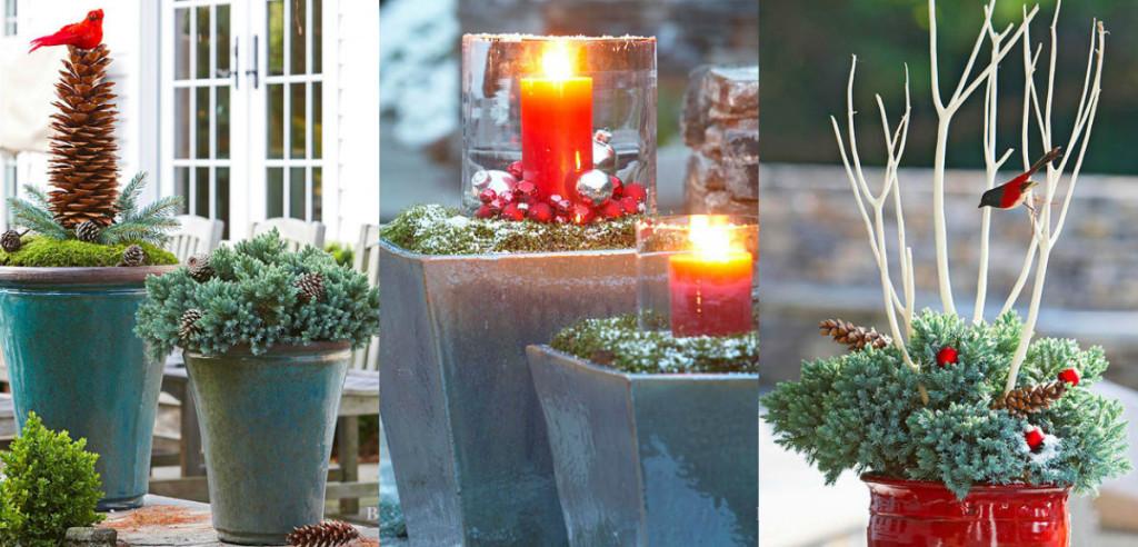 Kerstversiering in je tuin of op je balkon 8 idee n for Kerst ideeen voor in huis