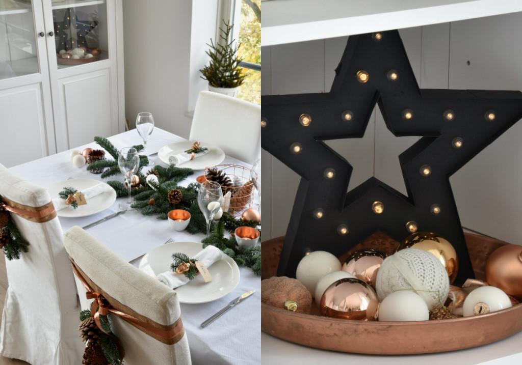 collage tafel dekken scandinavisch ster zwart