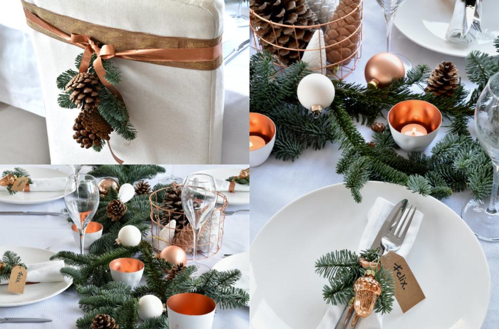 collage tafel dekken voor kerst