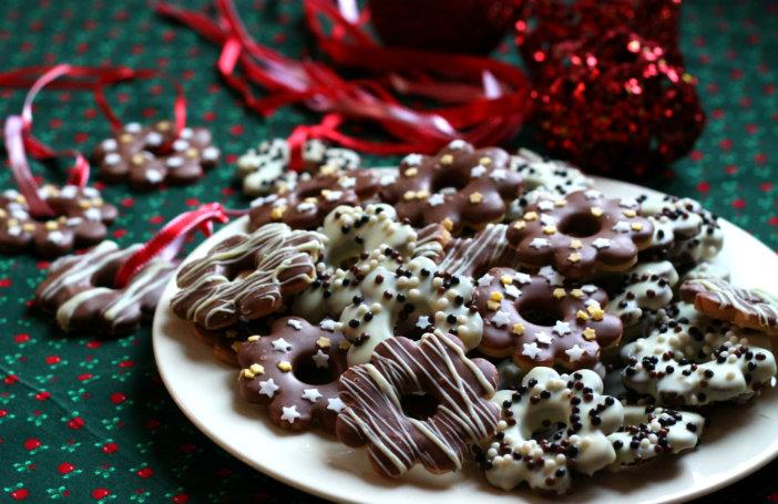 kerstkoekjes kerstkransjes met chocolade maken